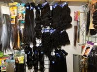 4 x 4 Natural Black (#1B) deep wave  Virgin Brazilian Hand Tied Free Parted Remy Lace Closure